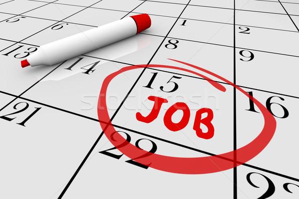 Calendar Illustration Job : Inizio · parola iscritto calendario giorno foto d