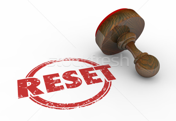 Reset Reposition Change Disrupt Stamp 3d Illustration Stock photo © iqoncept