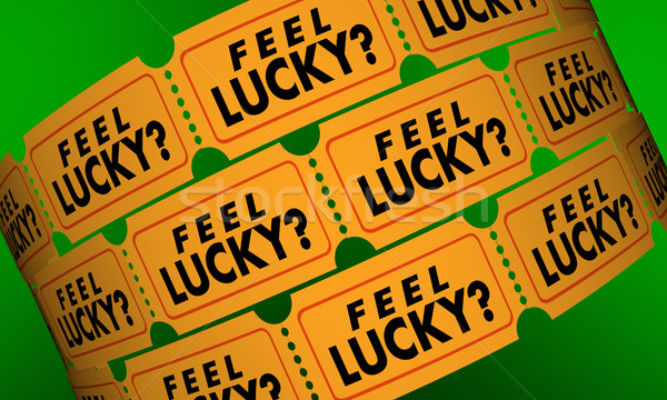 Feel Lucky Tickets Contest Raffle Optimism Positive Attitude 3d  Stock photo © iqoncept