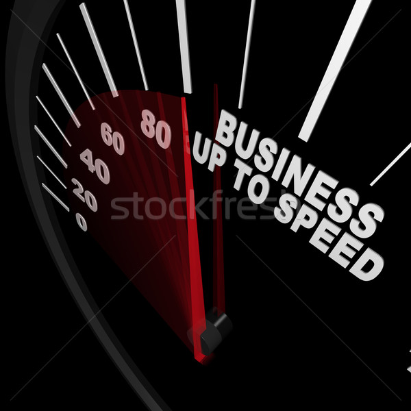 Business Up to Speed - Speedometer Measures Growth Stock photo © iqoncept