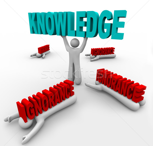 Knowledge Triumphs Over Ignorance - Learn to Grow and Win Stock photo © iqoncept