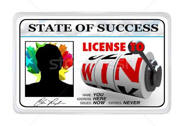 License to Win Laminated ID Card Opportunity for Success Stock photo © iqoncept