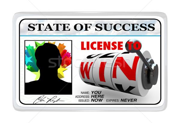 лицензия выиграть карт возможность успех Сток-фото © iqoncept