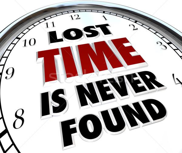Perdu temps jamais horloge passé histoire Photo stock © iqoncept