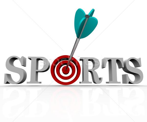 Sports - Arrow in Bulls-Eye Stock photo © iqoncept