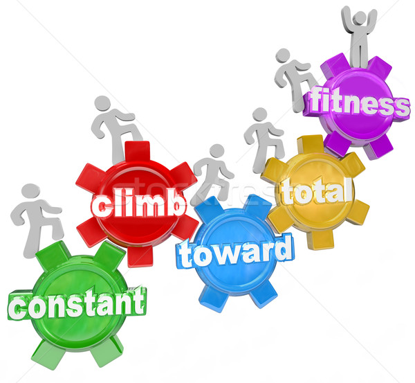 Stock photo: Constant Climb Toward Total Fitness People Walking