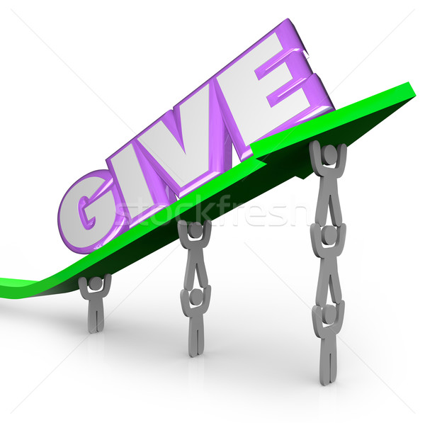 Give Word on Arrow Team Working for Charity Giving Stock photo © iqoncept
