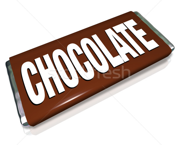 Chocolate Candy Bar Brown Wrapper Junk Food Stock photo © iqoncept