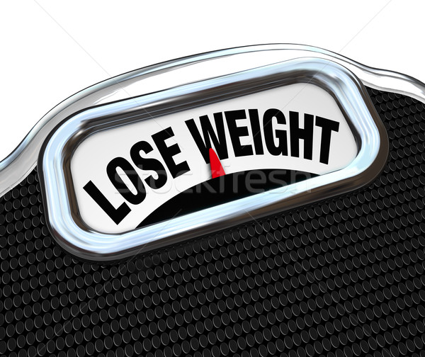 Lose Weight Words Scale Overweight Losing Fat Stock photo © iqoncept
