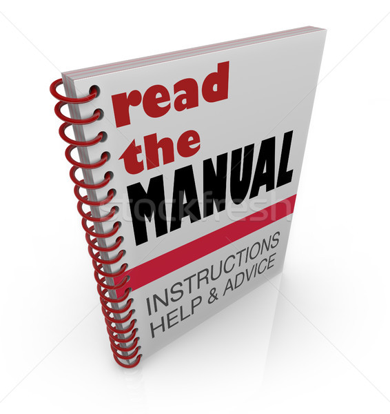 Read the Manual Book Instructions Help Advice Stock photo © iqoncept