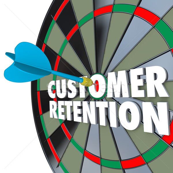 Customer Retention Dartboard Perfect Dart Hit Stock photo © iqoncept