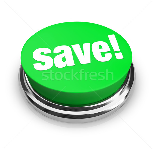 Save - Green Button Stock photo © iqoncept