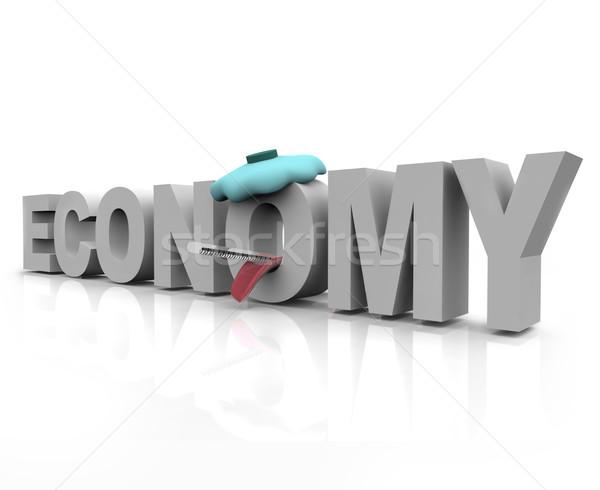 Sick Economy - Word Stock photo © iqoncept