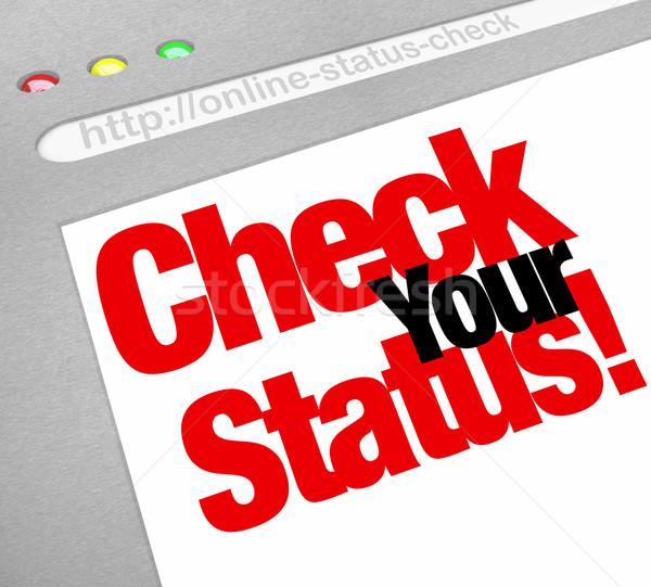Verificar estado on-line atualizar posição Foto stock © iqoncept