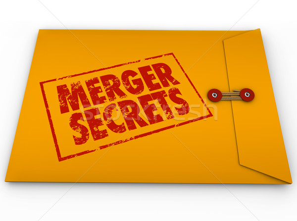 Merger Secrets Yellow Classified Envelope Information Stock photo © iqoncept
