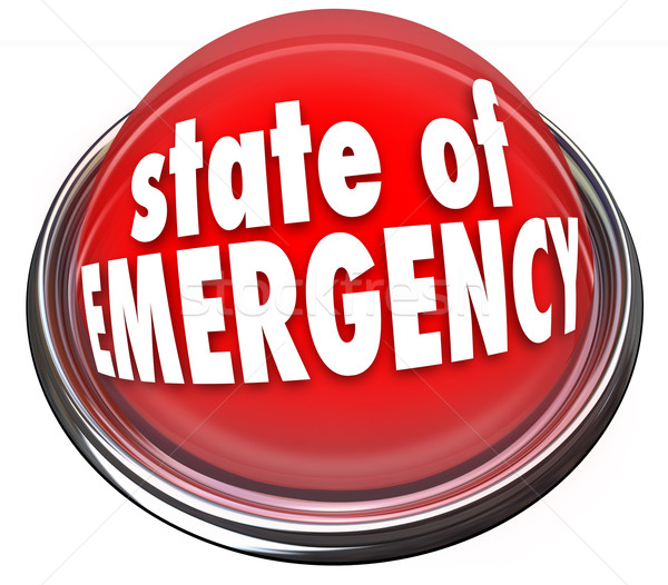 State of Emergency Red Flashing Light Button Warning Danger Cris Stock photo © iqoncept