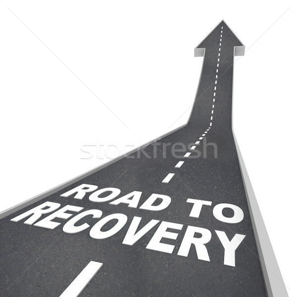 Road to Recovery Words on Pavement - Up Arrow Stock photo © iqoncept