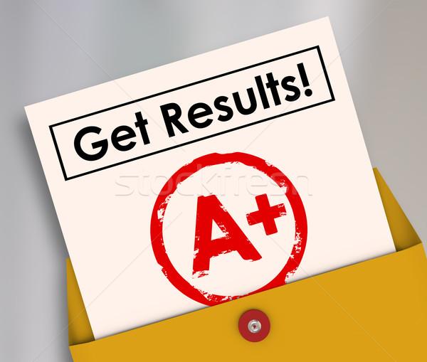 Resultaten verslag kaart student brief goede Stockfoto © iqoncept