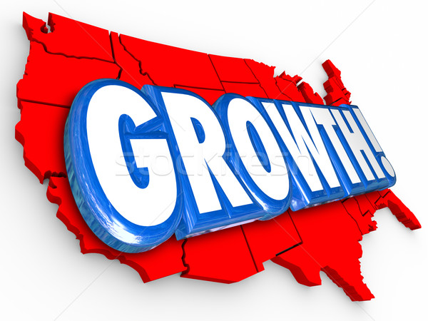 Growth United States America Country Map National USA Increase Stock photo © iqoncept