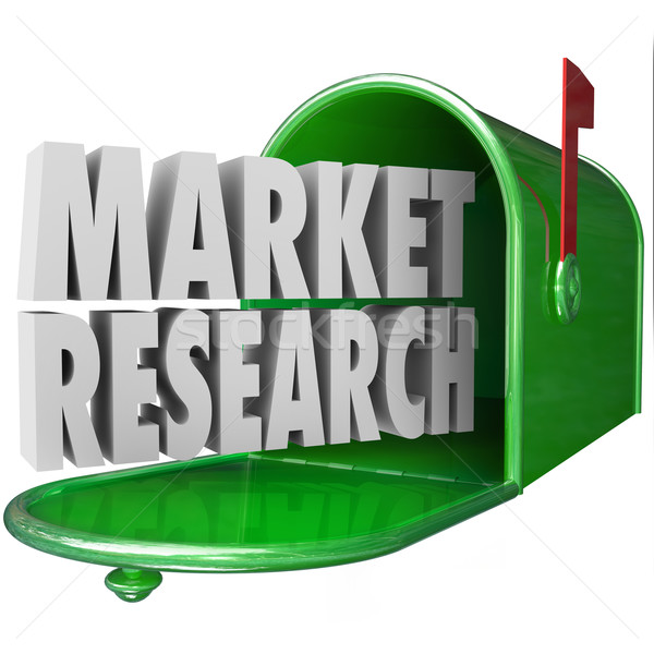 Market Research 3d Words Mailbox Customer Study Survey Stock photo © iqoncept