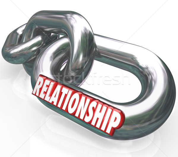Relationship 3d Word Chain Links Family Partnership Together Stock photo © iqoncept