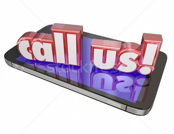 Call Us Contact Customer Service Tech Support Order Now Cell Mob Stock photo © iqoncept