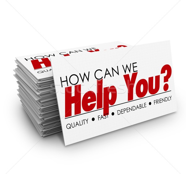 How Can We Help You Business Cards Customer Service Stock photo © iqoncept