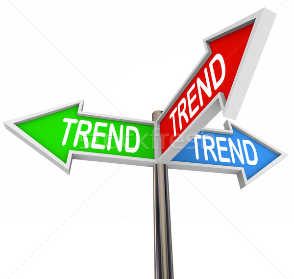Trend 3 Arrow Signs Popular Best Hottest Fads New Updates Stock photo © iqoncept