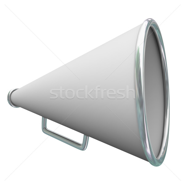 Megaphone Bullhorn 3d Communication Share Information Message An Stock photo © iqoncept