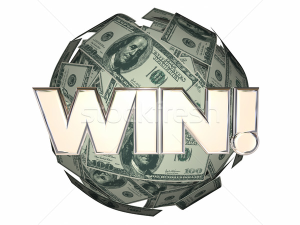 Win Money Cash Ball Sphere Lottery Luck Stock photo © iqoncept