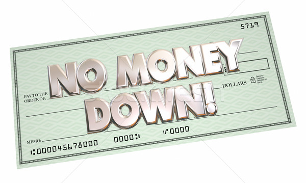 No Money Down Payment Financing Borrow Cash Money 3d Words Stock photo © iqoncept