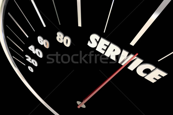 Service Top Responsive Speed Great Attention Words Speedometer 3 Stock photo © iqoncept