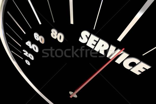 Szolgáltatás felső reszponzív sebesség nagyszerű figyelem Stock fotó © iqoncept
