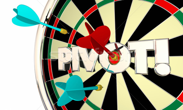Pivot Dart Board Change Shift Business Model 3d Illustration Stock photo © iqoncept