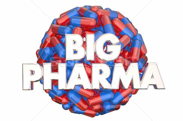 Grand industrie pouvoir pilules médecine 3D Photo stock © iqoncept