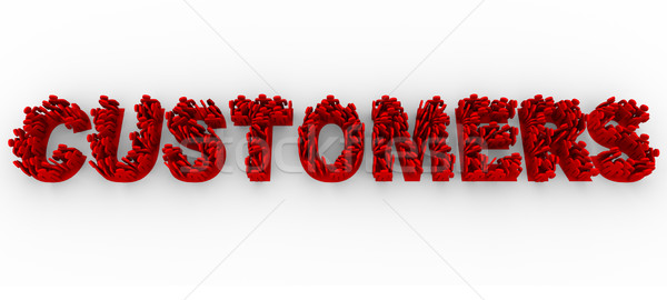 Customers - People on Letters Form Word Stock photo © iqoncept