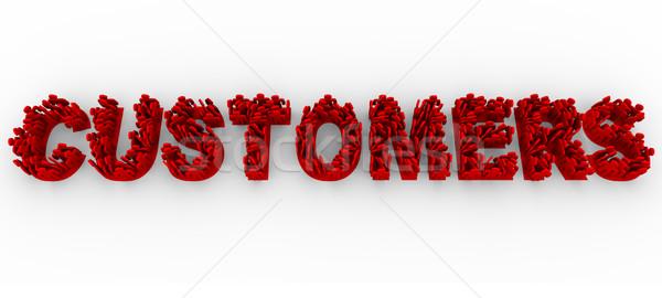 Klientela ludzi litery formularza słowo wiele Zdjęcia stock © iqoncept