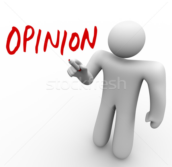 Person Sharing Opinion Offering Feedback or Criticism Stock photo © iqoncept
