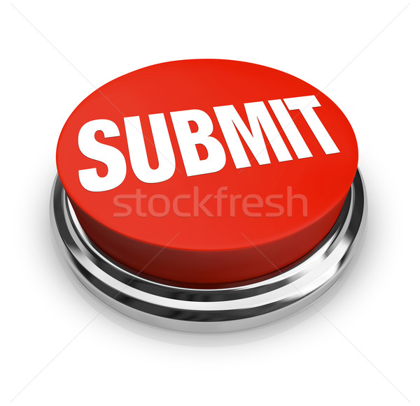 Stock photo: Submit Word on Round Red Button
