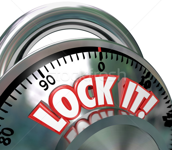 Lock It Combination Lock  Security Protection Stock photo © iqoncept
