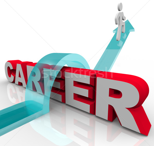 Person Better Job Career Word Rising Promotion Opportunity Stock photo © iqoncept