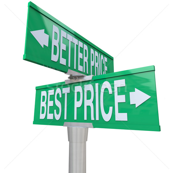 Stock photo: Better and Best Price - Two-Way Street Sign