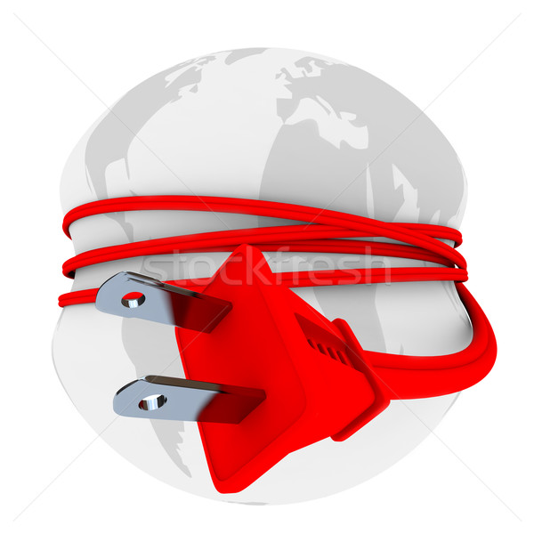 Electric Plug Has Earth in Stranglehold Stock photo © iqoncept
