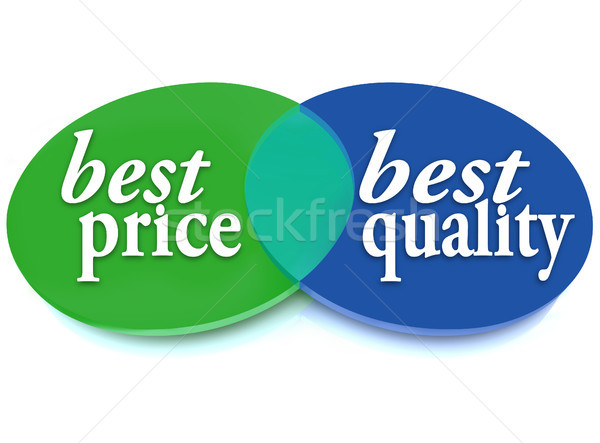 Best Price and Quality Venn Diagram Comparison Ideal Buy Stock photo © iqoncept