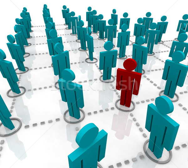 Large Network of People Stock photo © iqoncept