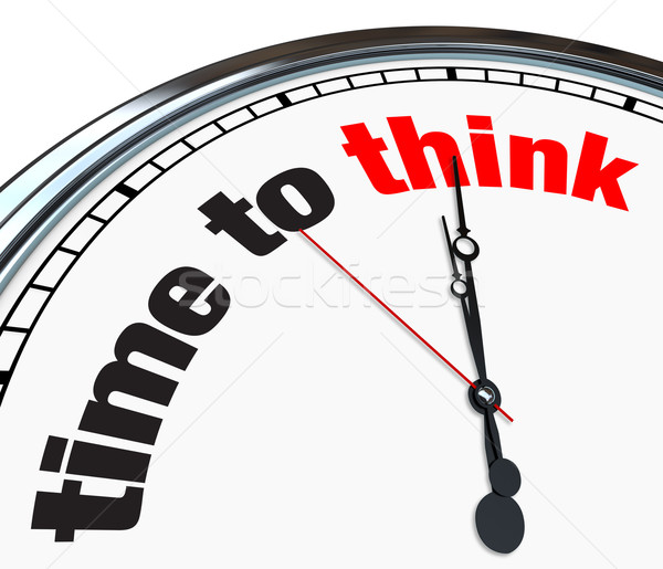 Time to Think - Clock Stock photo © iqoncept