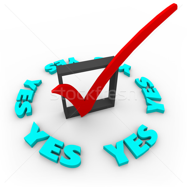 Yes - Check Mark in Box Stock photo © iqoncept