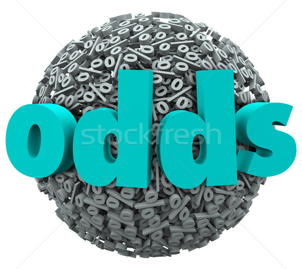 Odds Word Percent Signs Luck Chance Likelihood Win Stock photo © iqoncept