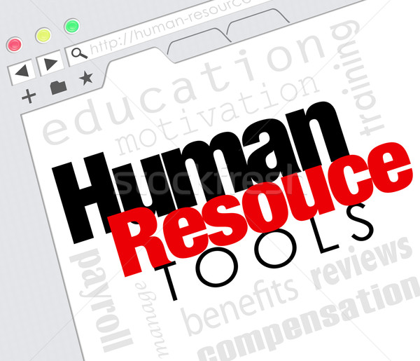 Human Resource Tools Online Internet Website Training Benefits M Stock photo © iqoncept