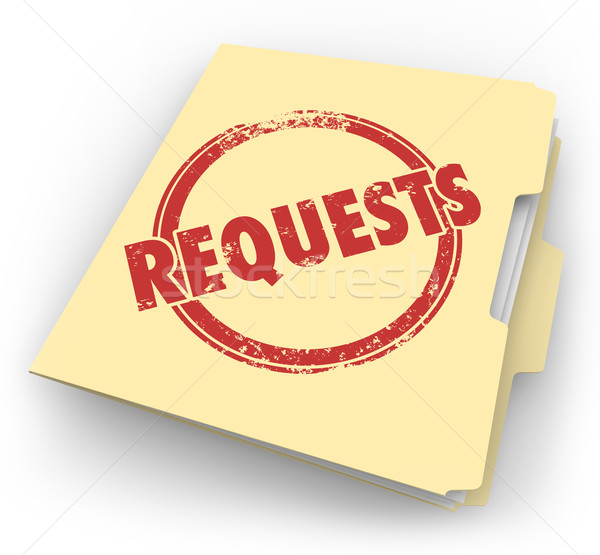 Requests Manila Folder Customers Asking Jobs Tasks Service Stock photo © iqoncept